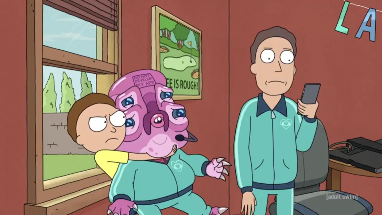 Фрагмент 4 сезона Рика и Морти